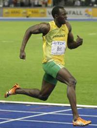 Världens snabbaste man.